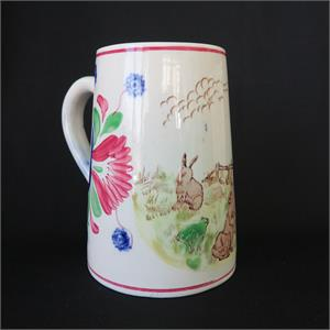Rabbitware Stick Spatter Virginia Rose Mug